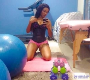 Actress Chika Ike Shows Off Waist Trainer In Sexy Workout Picture